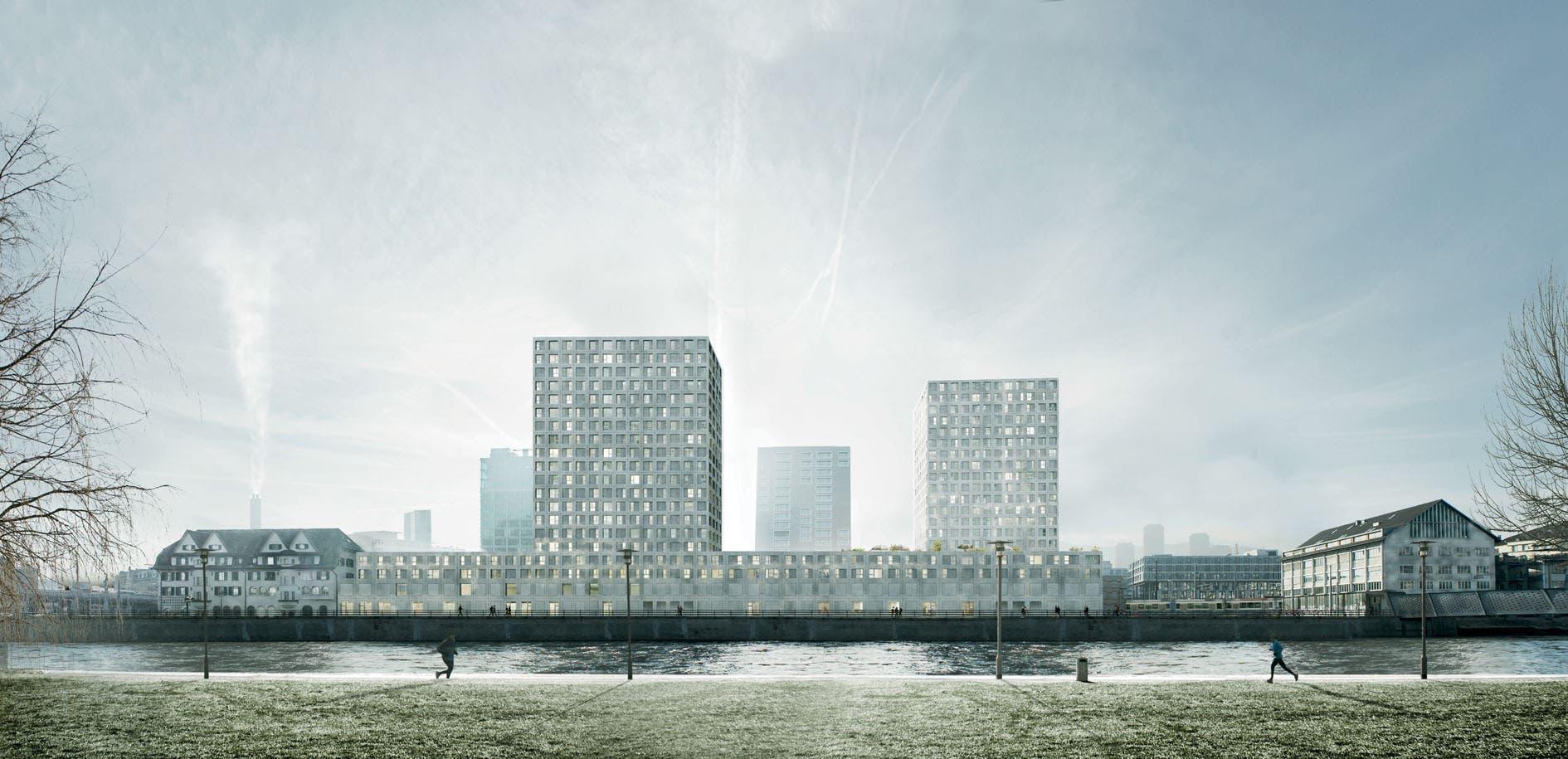 Die geplanten Hochhäuser auf dem Tramdepot Hard in Zürich-West