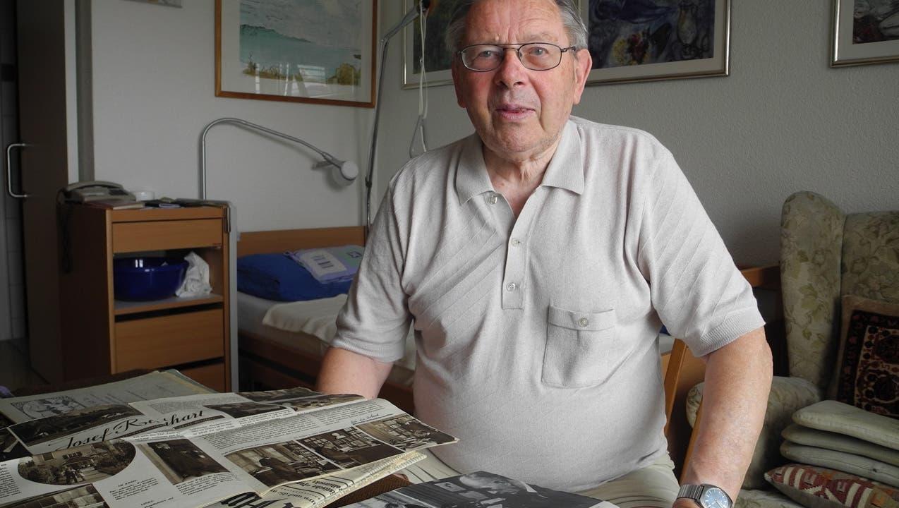 Er las «für ein paar Batzen» dem Dichter Josef Reinhart vor