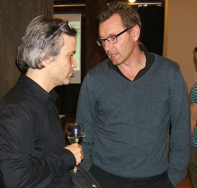 Stephan Bircher mit Tobias Leuthard ein ehemaliger und ein aktueller Gemeinderat im Gespräch