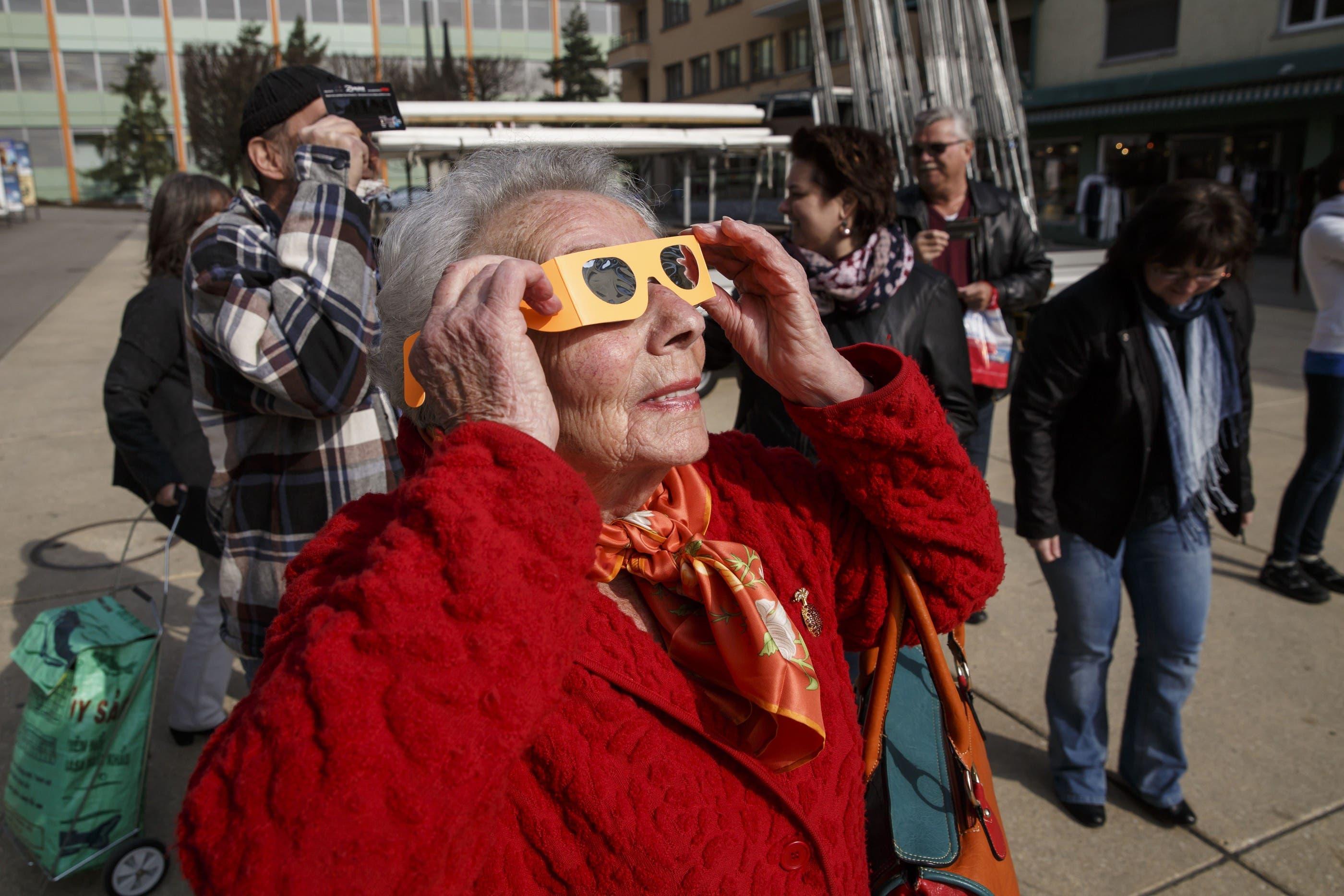 So erlebten die Menschen die Sonnenfinsternis in Solothurn