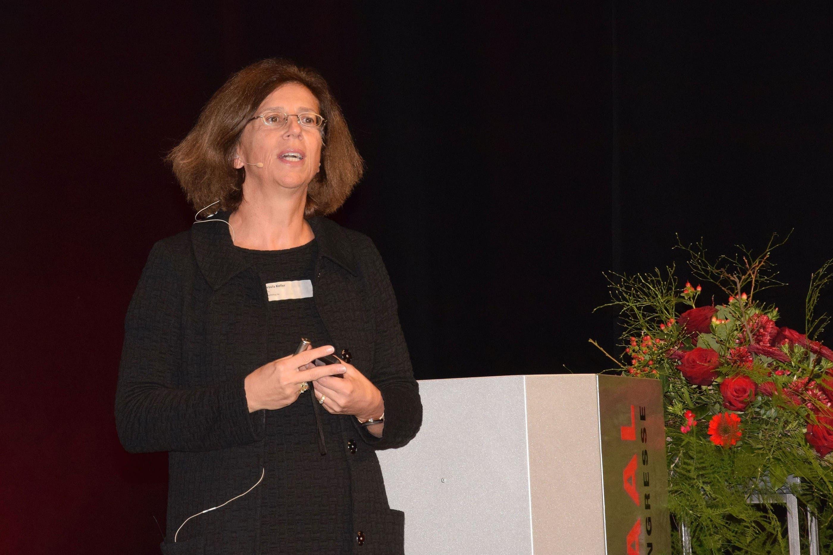 Professorin Ursula Keller bei ihrem Referat