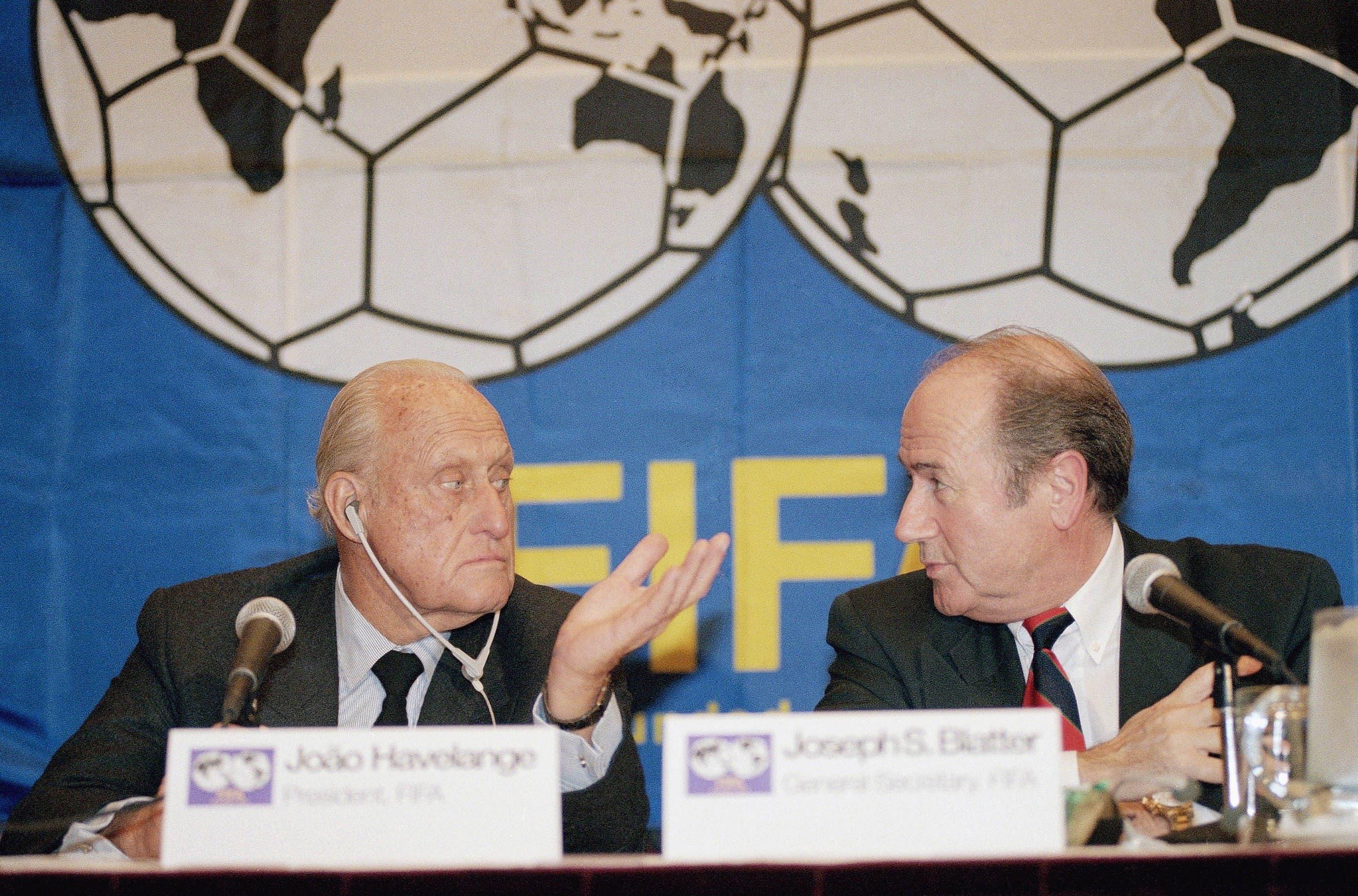 Blatter mit seinem Vorgänger Joao Havelange 1994