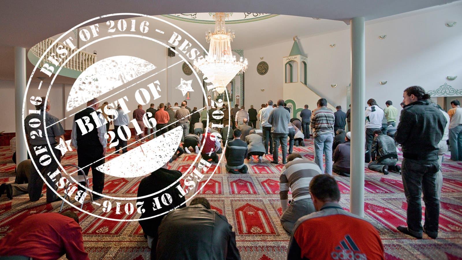 Gläubige beten in der Moschee des Islamisch-Albanischen Vereins in Winterthur.