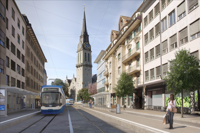 Mit rund 50000 Fahrgästen pro Tag ist der Stauffacher eine der wichtigsten Haltestellen im städtischen Tramnetz.