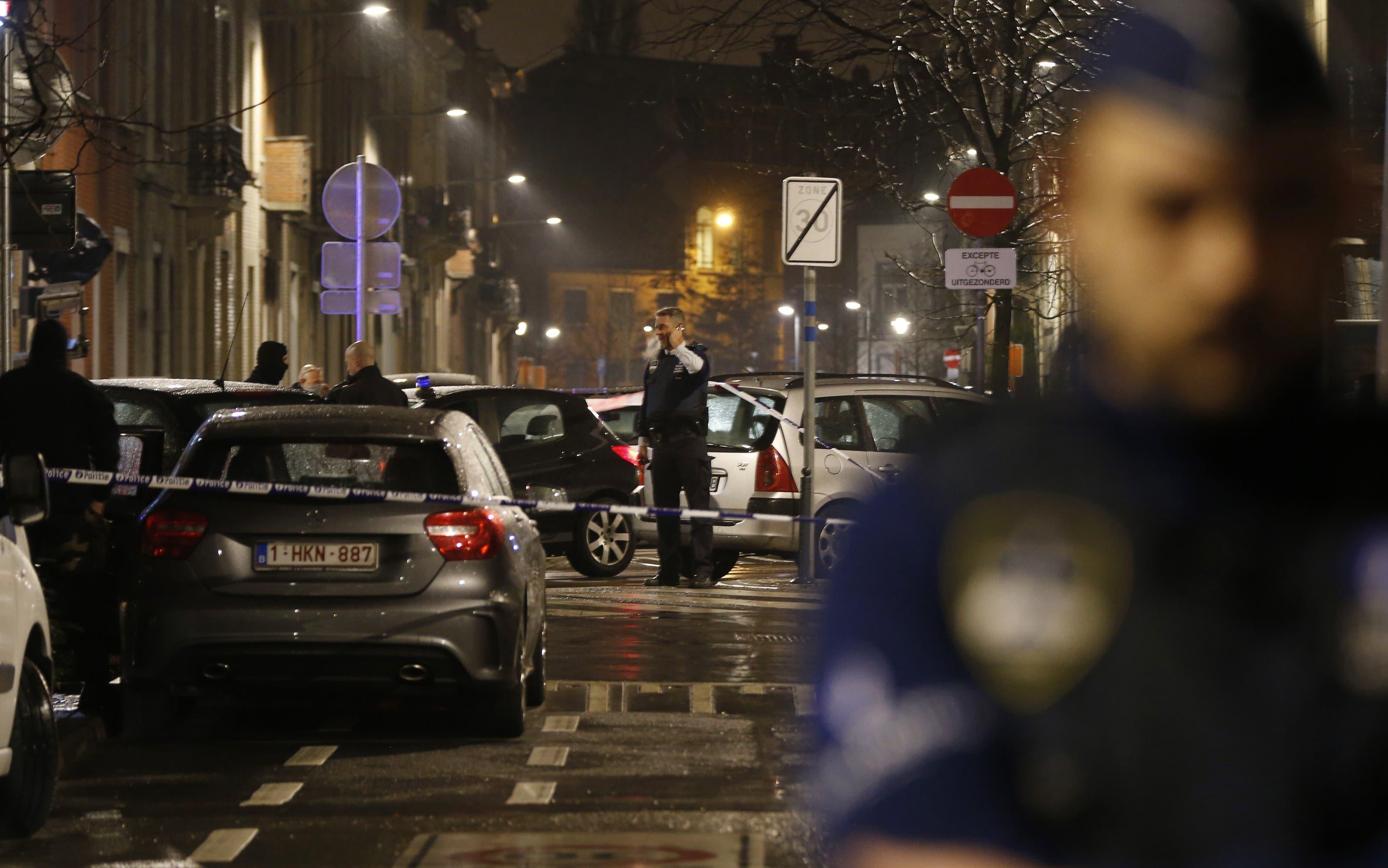 Nächtlicher Einsatz der Polizei in Brüssel: Sie nimmt sechs Personen fest.