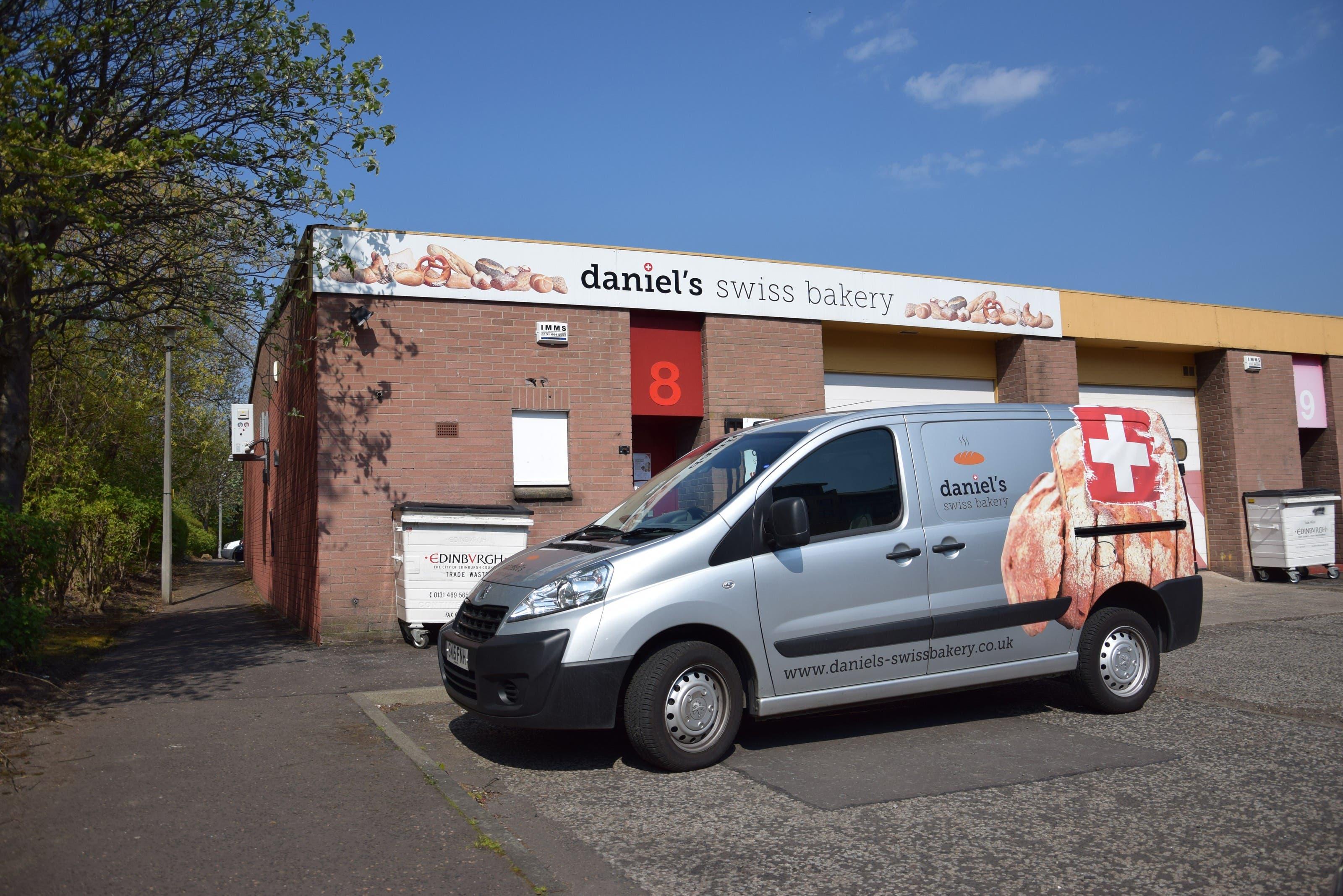 «Daniel's Swiss Bakery» in einem Industriequartier in Edinburgh.