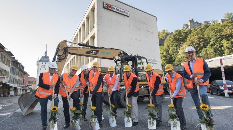 Bypass-Operation über dem «Blinddarm»: Startschuss für den Bau des Schlossberg-Haus