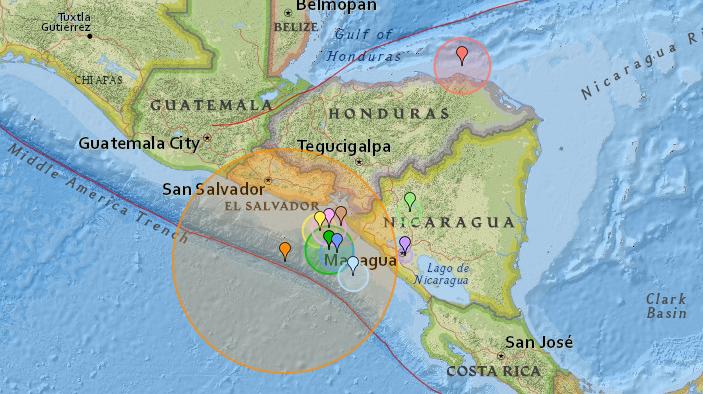 Tsunami-Warnung: Erdbeben der Stärke 7,0 erschüttert El Salvador und Nicaragua