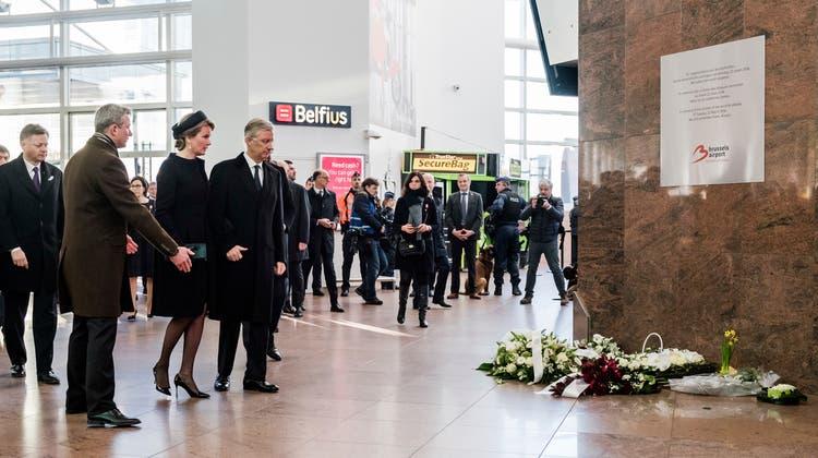 Exakt ein Jahr nach den Anschlägen: Brüssel gedenkt der Terror-Opfer