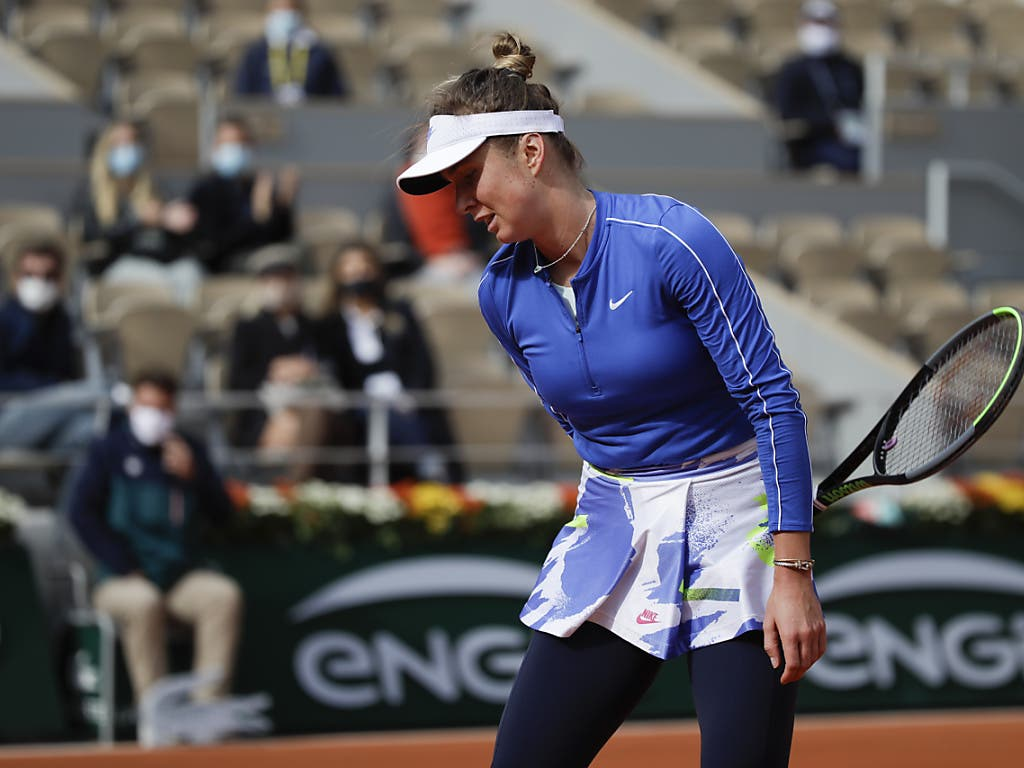 Kein guter Nachmittag: Die Ukrainerin Jelina Switolina scheiterte in Paris an der Qualifikantin Nadia Podoroska
