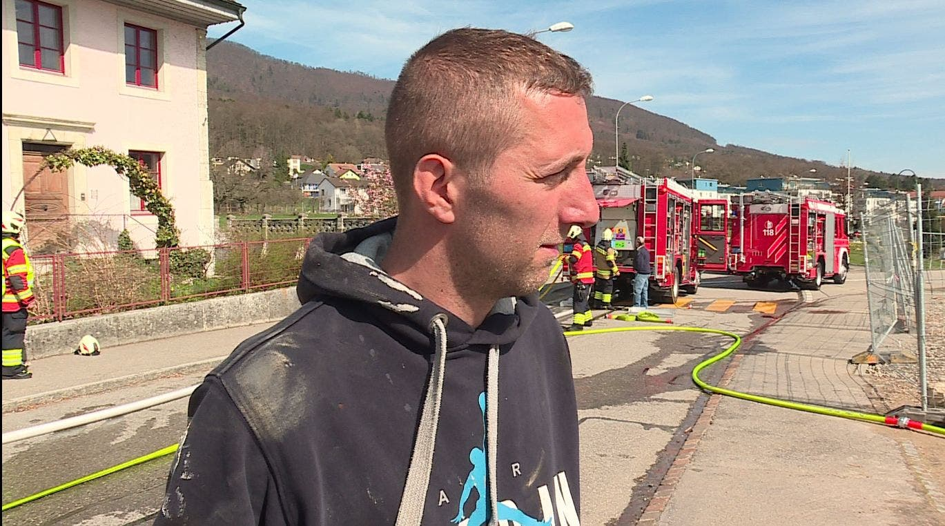Bohrmeister Christian Umber versuchte noch, den Brand zu löschen – jedoch ohne Chance.