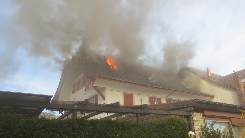 "Brand im ""Rössli"" in Möriken"