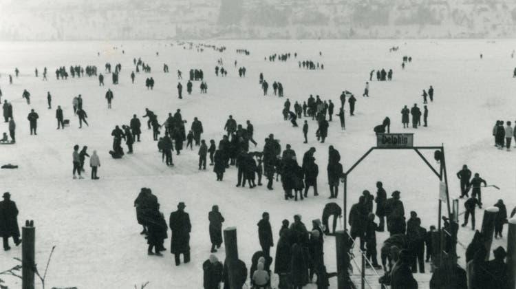 Die letzte grosse Seegfrörni: Als Jugendliche auf dem Hallwilersee Schlittschuh fuhren