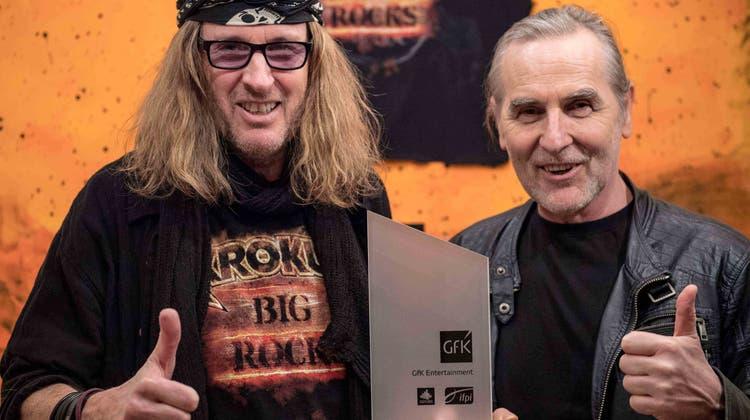 Rockband Krokus erhält Preis für viertes Album