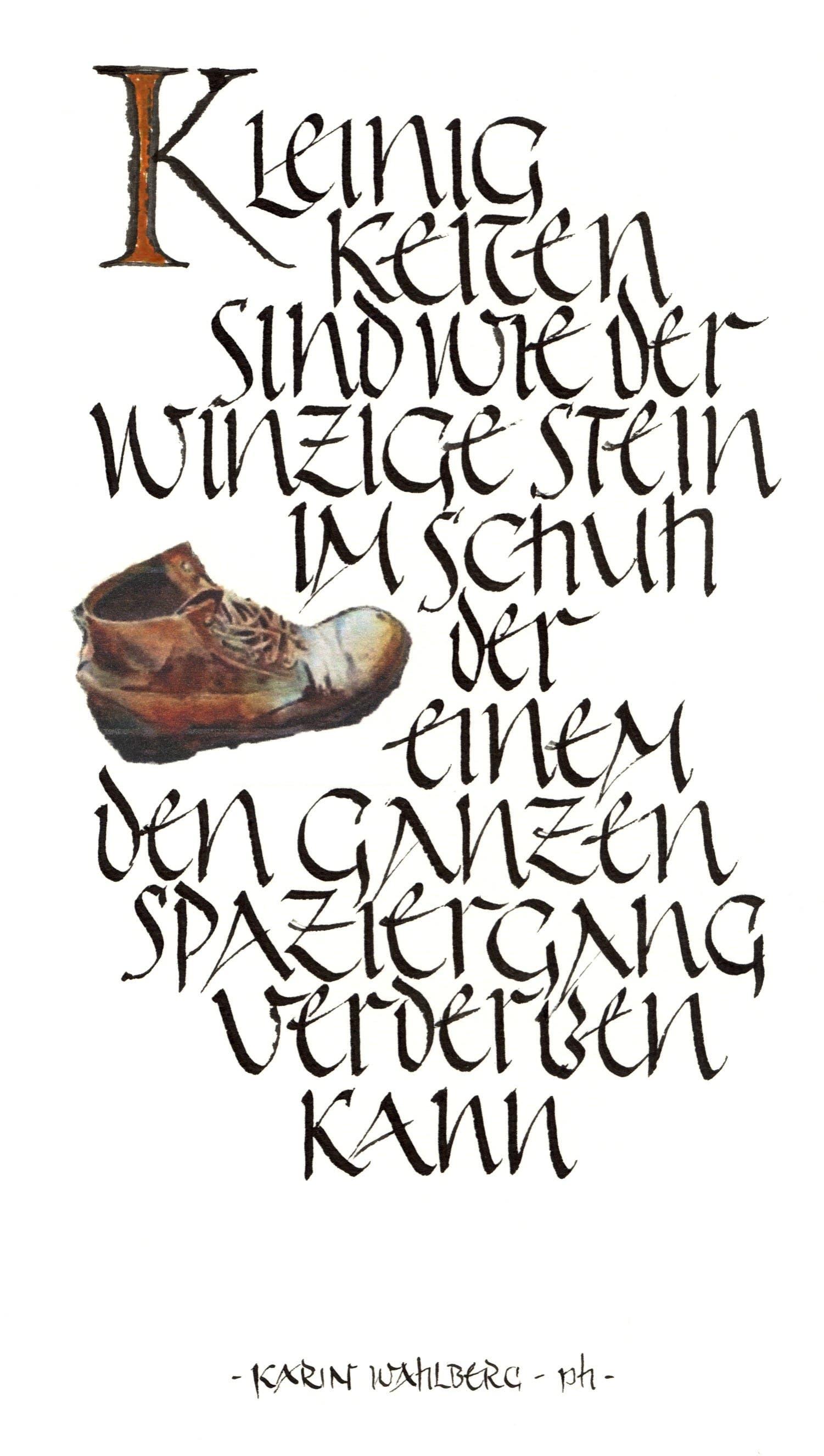 «Kleinigkeiten» aus der Ausstellung Kalligraphie