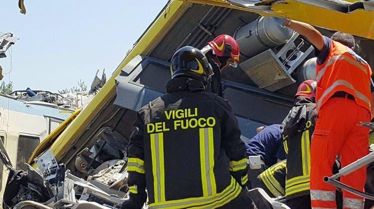 Zugunglück in Süditalien: «Es ist eine Katastrophe» – Zahl der Opfer steigt auf 27