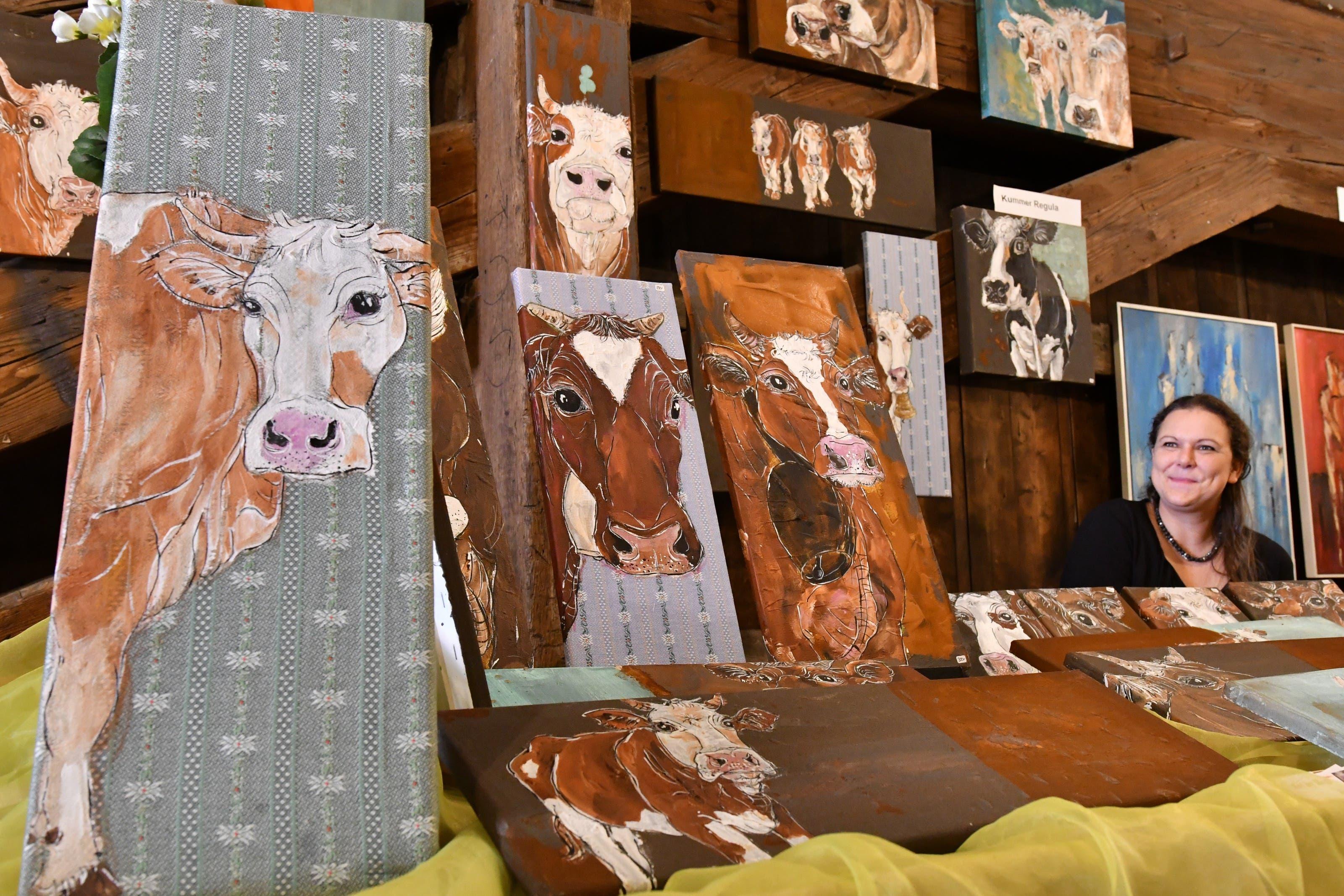 Impressionen des Kunstmarkts auf der Oltner Holzbrücke
