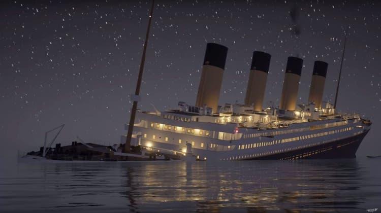 Quälend langsam: Der Untergang der Titanic im Echtzeit-Video – ein Drama über 2 Stunden 40 Minuten
