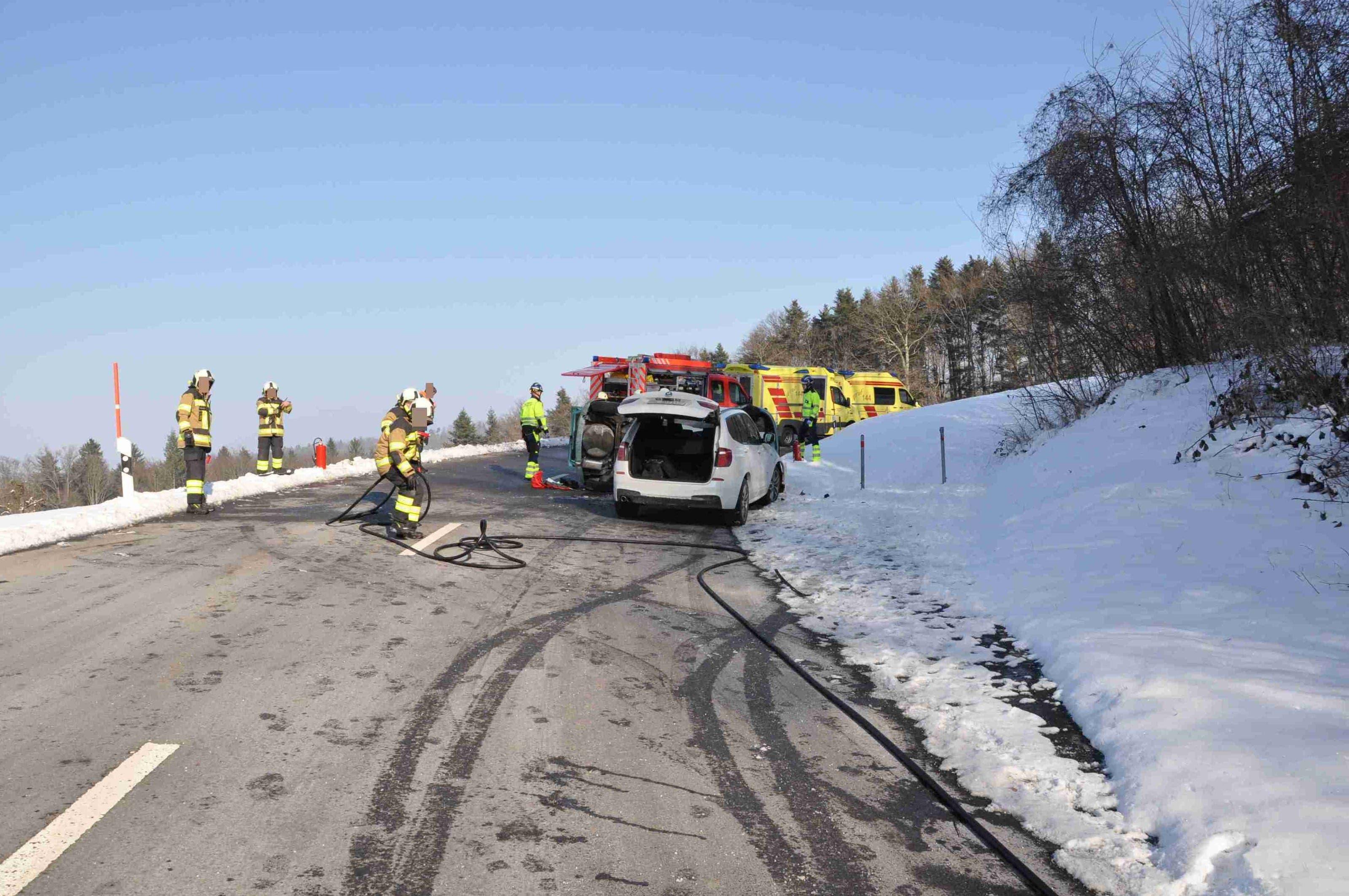 Der Beifahrer des mutmasslichen Unfallverursachers kam dabei ums Leben.