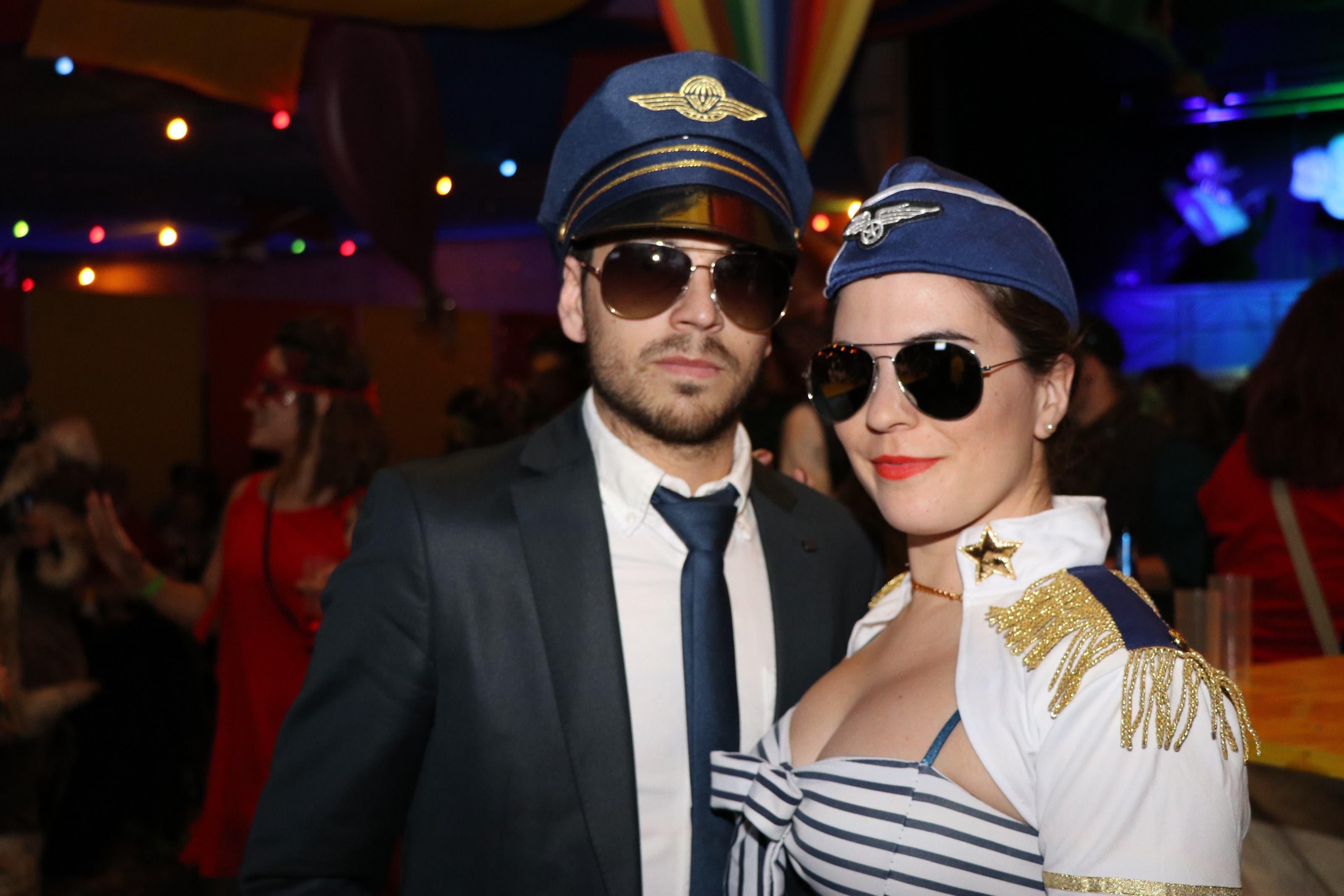 Flugzeugcrew Alessandro Facchinetti und Malanie von Ow
