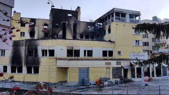 Hotel in Arosa nach Brand zerstört