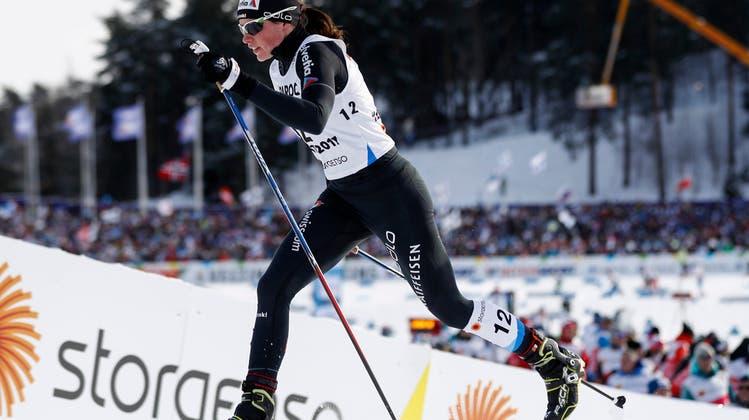 Der Sprint des Lebens: Nathalie von Siebenthal läuft in Lahti im Skiathlon auf den famosen 4. Rang