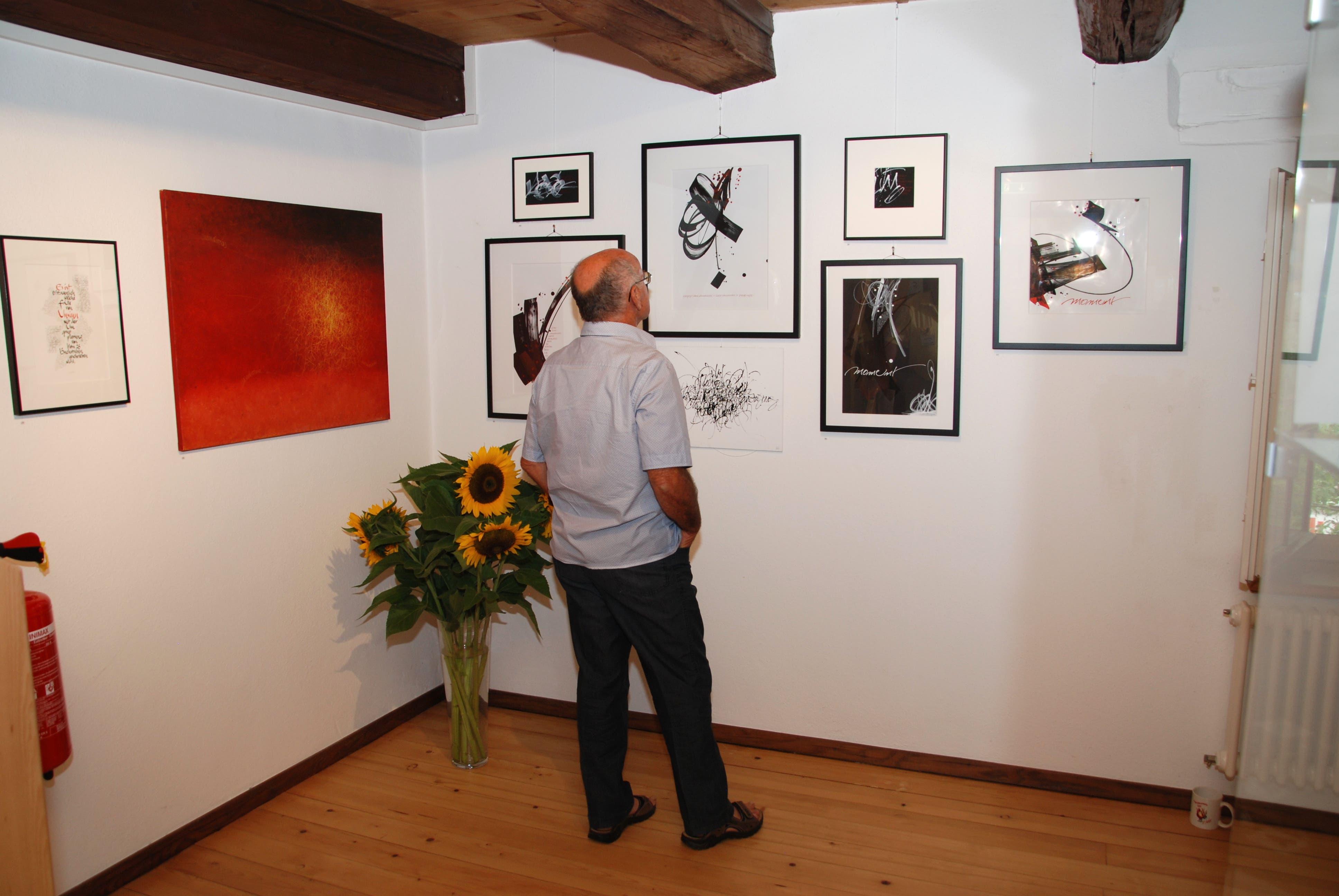Ausstellung Kalligraphie im Museum Suhr