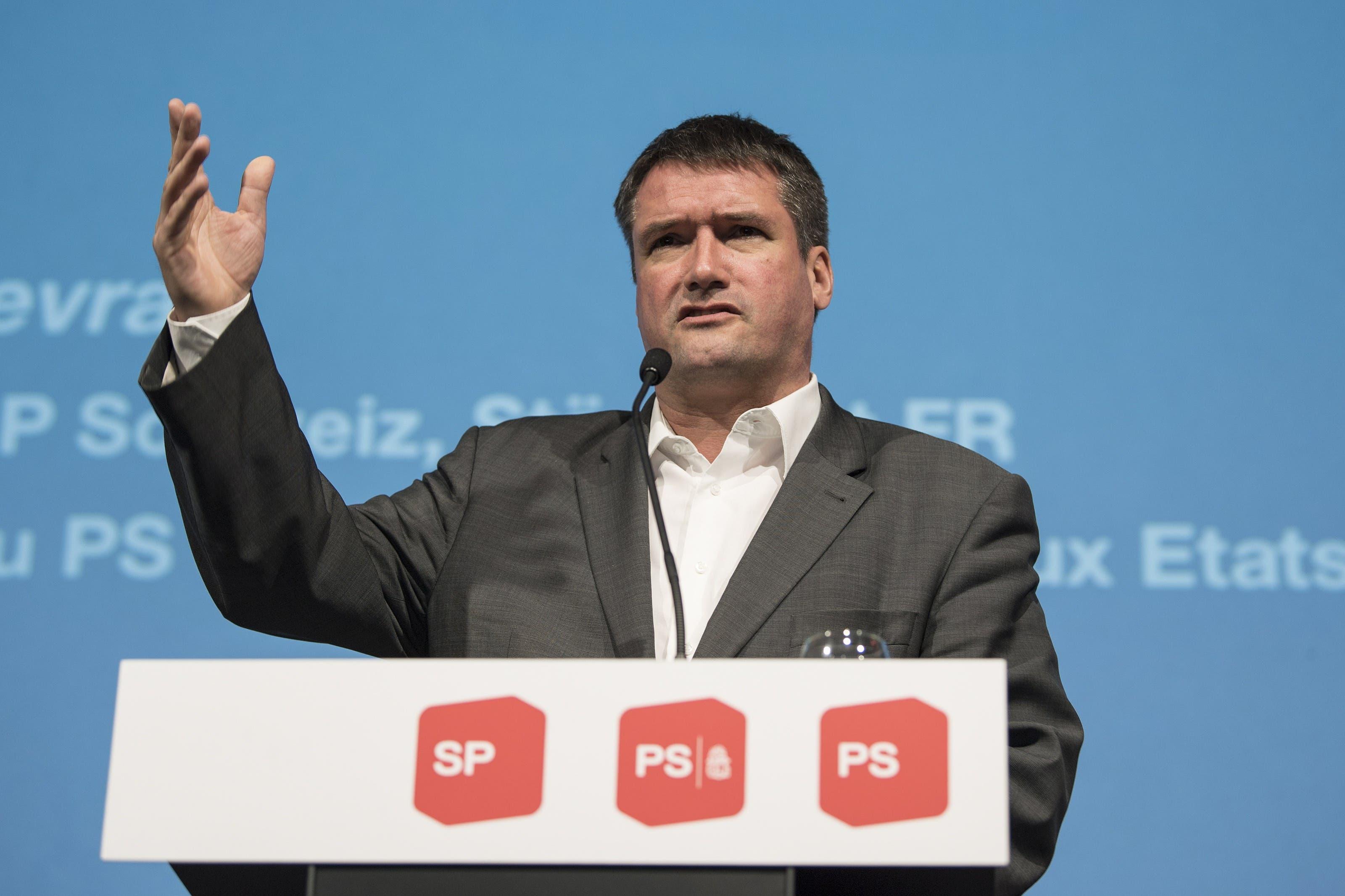 Parteipräsident Christian Levrat.