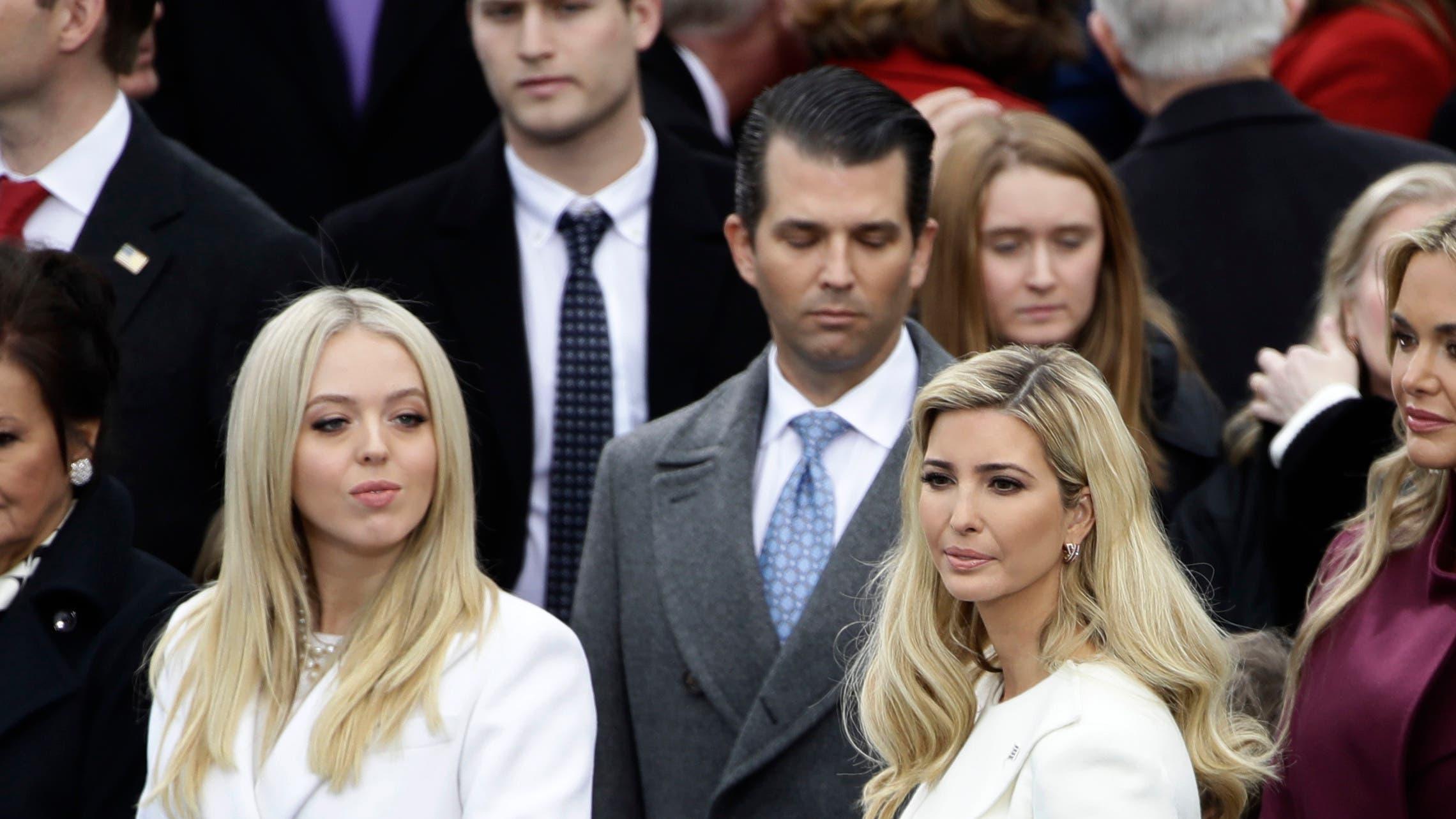 Trumps Kinder bei der Amtseinführung: (v.l.) Tiffany, Donald Trump Jr. und Ivanka Trump.