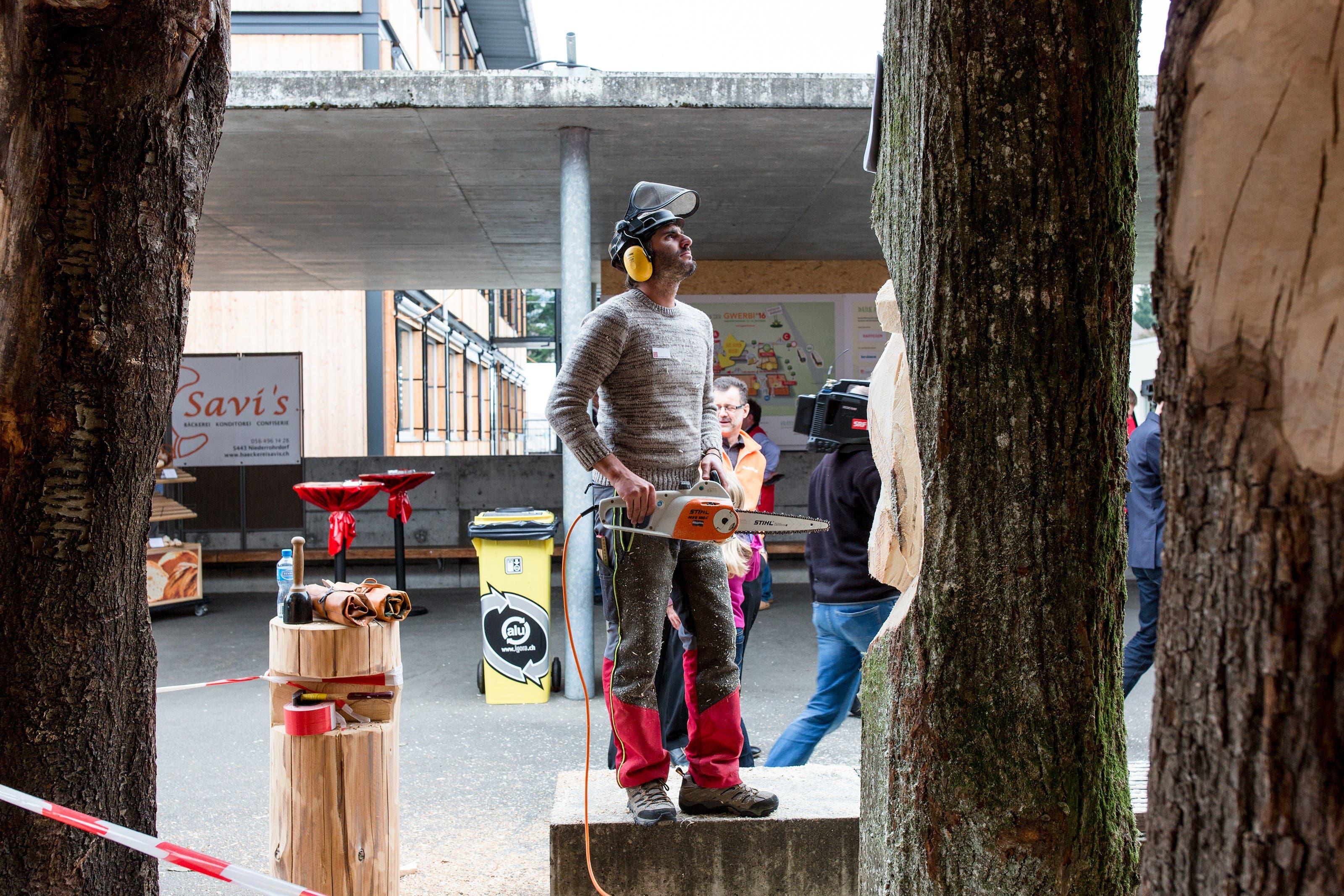 Wie simple Baumstämme zu einem Kunstwerk werden, zeigt die Peterhans Schibli AG.