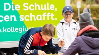 Die Jugendlichen wollten am Orientierungslauf möglichst schnell das Ziel erreichen. (Bild: PD)