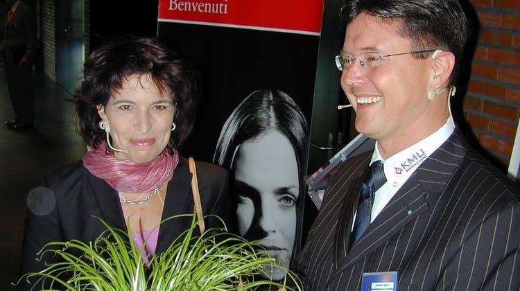 Stargast Leuthard eröffnet das Badener Wirtschaftsforum im Jubiläumsjahr