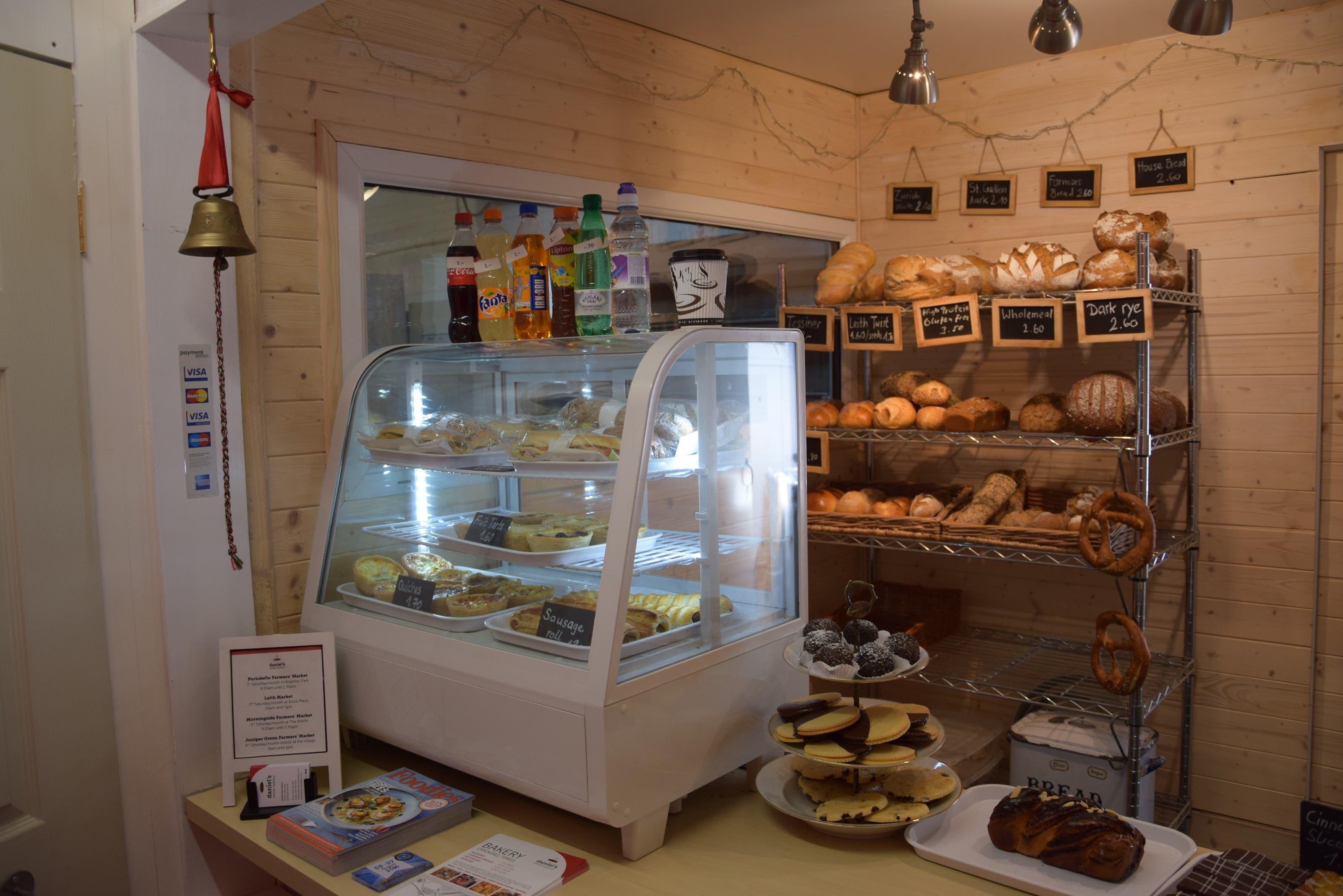 Ein Blick in die Bäckerei.
