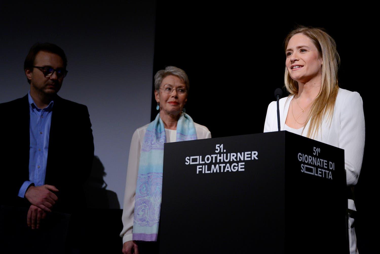 Jury «Prix de Soleure» (v.l.) Călin Peter Netzer, Heidi Tagliavini und Julia Jentsch