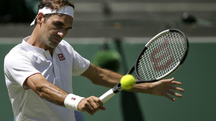 Keine Probleme für Roger Federer zum Auftakt der Mission Titelverteidigung