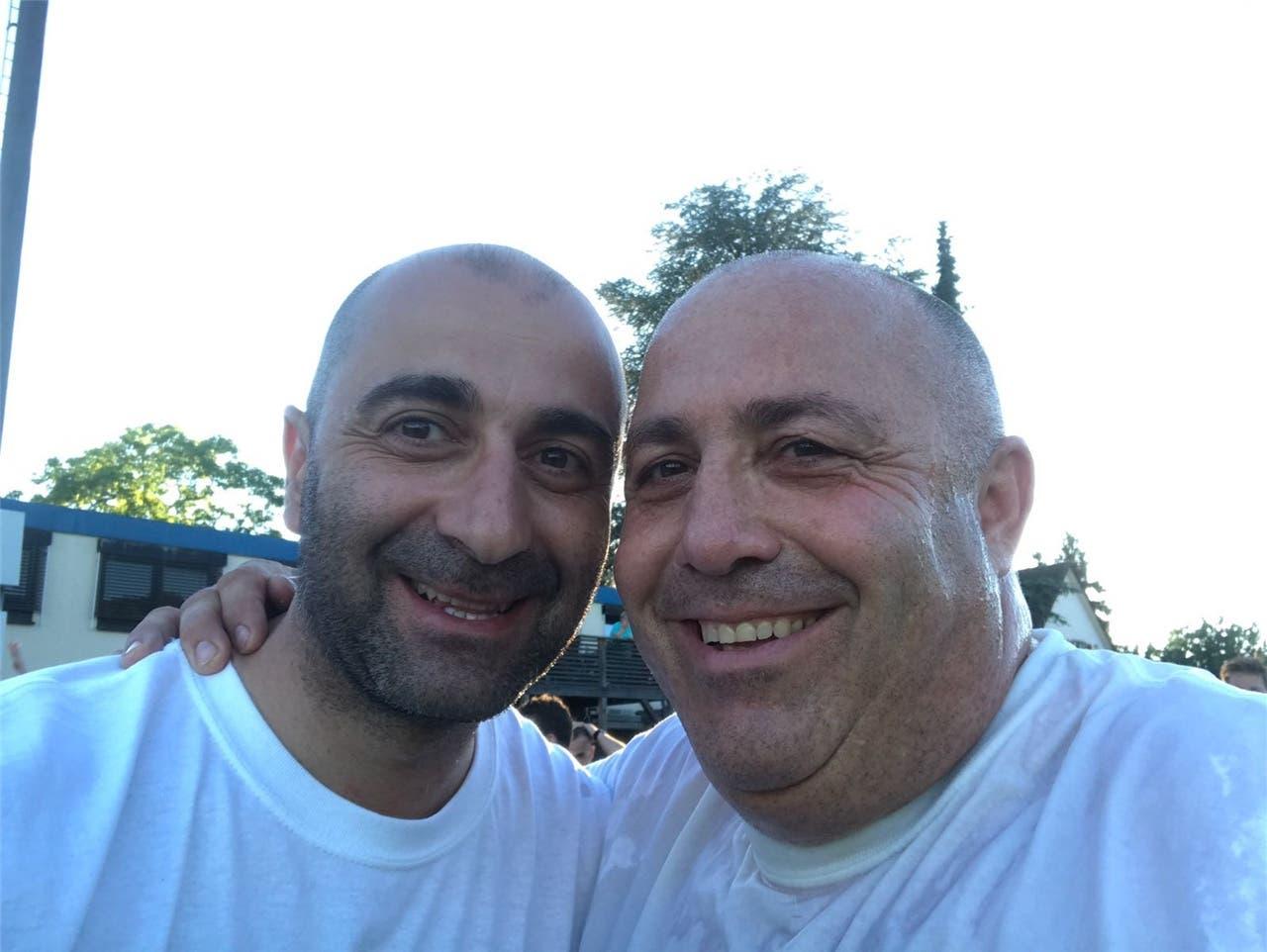 Präsidiale Freude: Pierluigi Ghitti (links) feiert