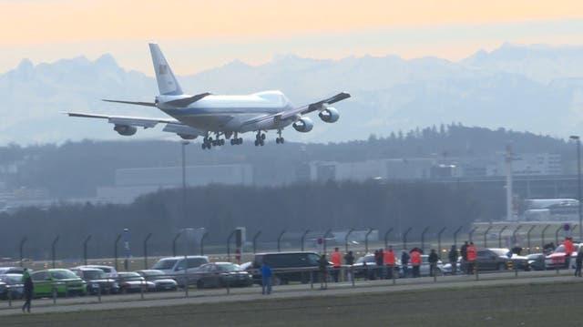 Hier landet Donald Trump in Zürich