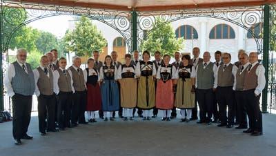 Das Jodlerchörli Niederlenz am Westschweizerischen Jodlerfest in Yverdon