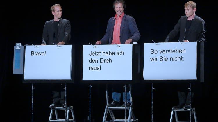 """Ehrencornichon-Preisträger """"Ohne Rolf"""" waren auf der Suche nach Umblätterer im Nebenamt"""