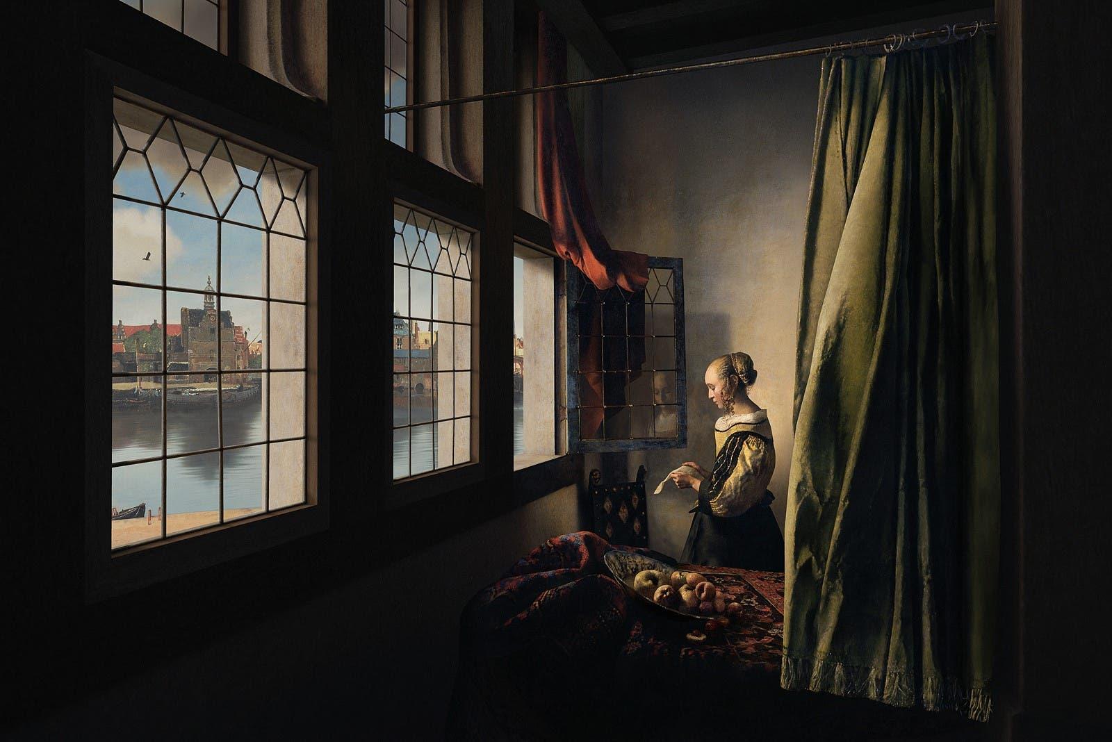 """""""Brieflesein am offenen Fenster"""" aus dem 17. Jahrhundert."""