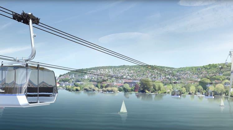 Die ZKB feiert ihr Jubiläum mit einer Seilbahn über den Zürichsee – die Reaktionen
