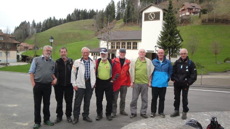 Die Männerturner unterwegs auf dem Herzstück des Grenzpfades BE-LU
