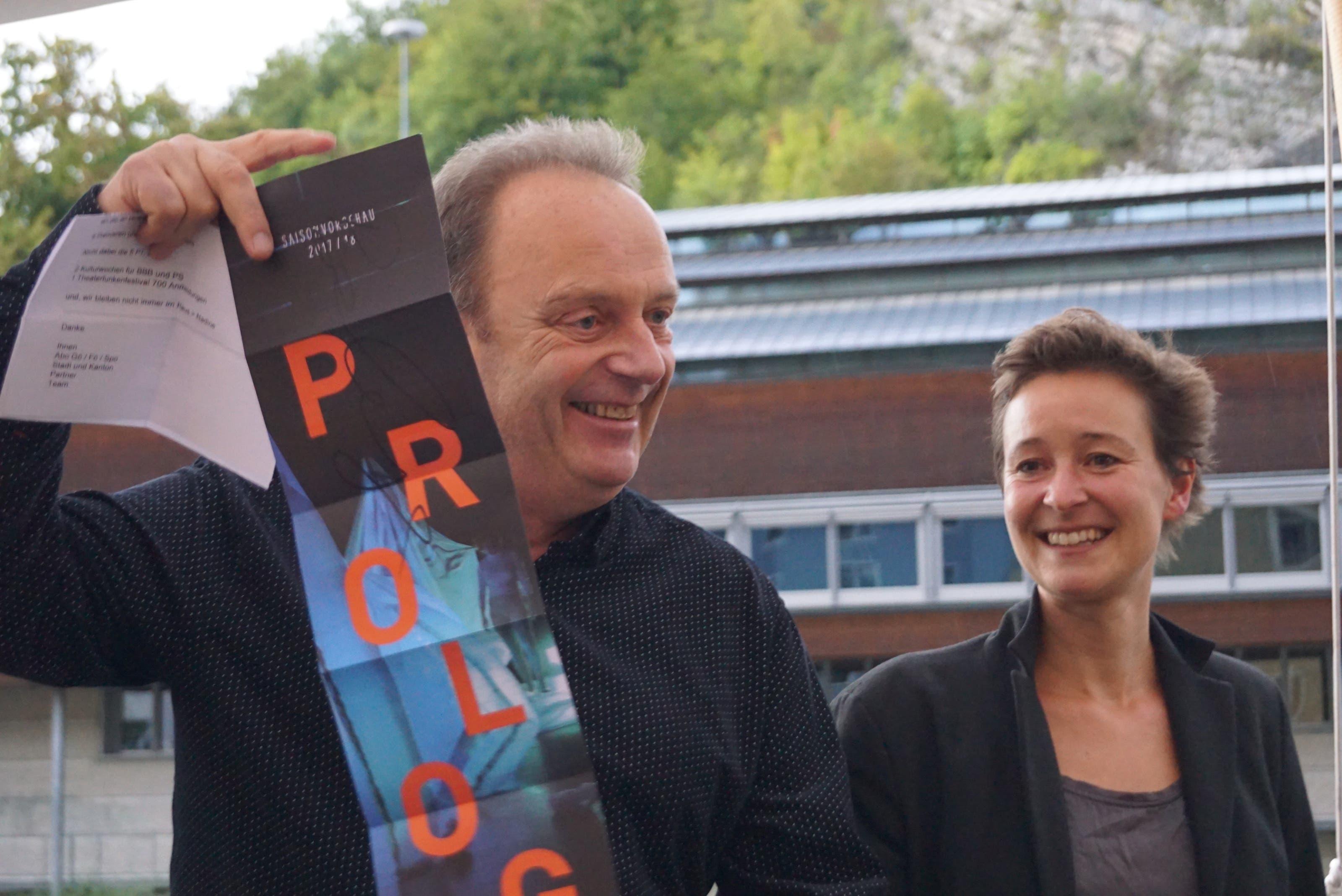 Markus Lerch und Nadine Tobler haben an Ihrer Ansprache gleich die Höhepunkte der nächsten Saison vorgestellt.