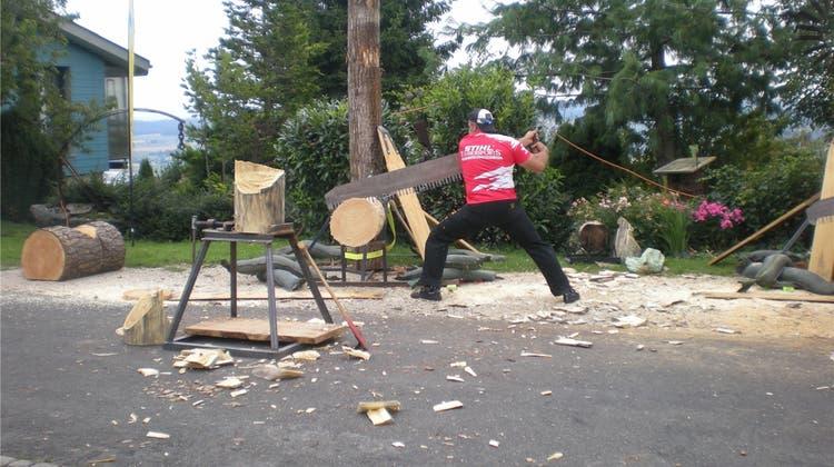Timbersport-Schaukampf zum 1.August