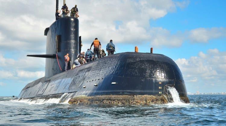 Für die Besatzung des vermissten U-Boots ARA «San Juan» gibt es kaum noch Hoffnung