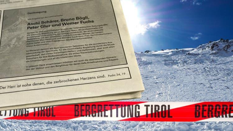 Grosse Geste: Angehörige schliessen Bergführer in Danksagung mit ein – gegen den Justiz ermittelt