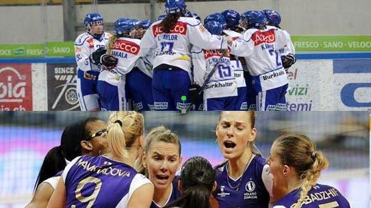 Stadt ehrt Volero Zürich Volleyballerinnen und ZSC Lions Eishockeyspielerinnen