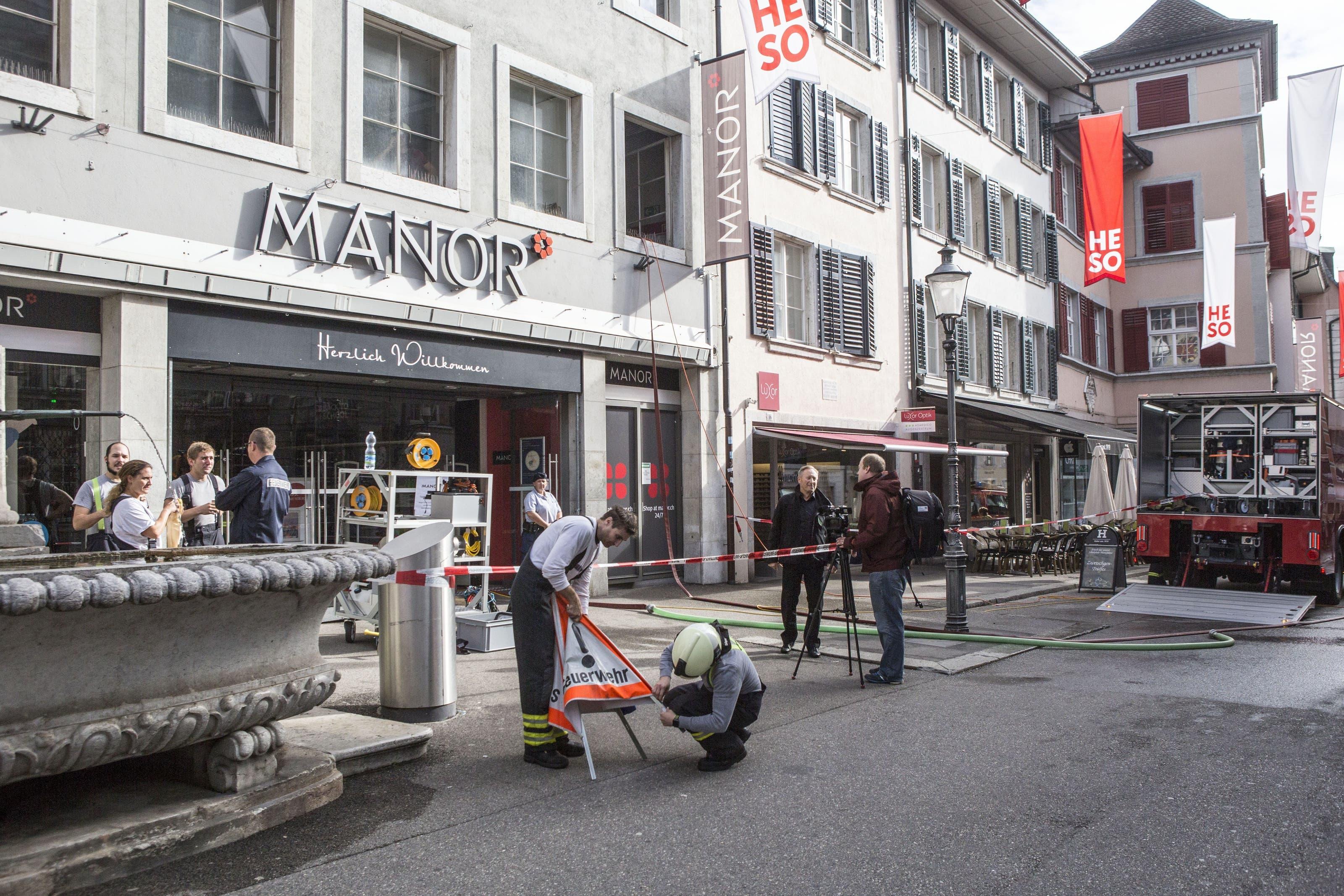 Wasserschaden im Manor Solothurn