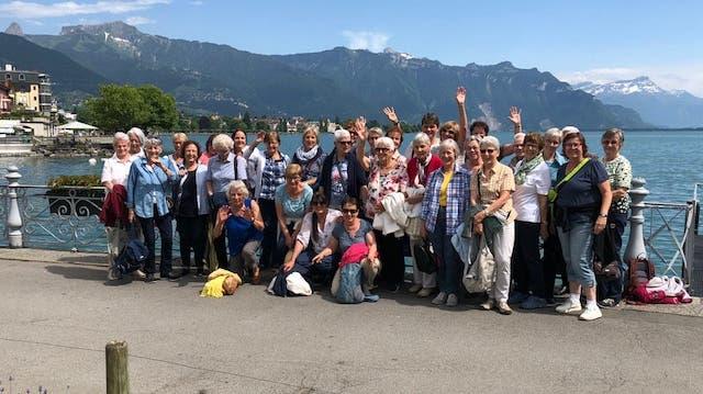 Vereinsausflug Frauenturnverein Solothurn Charlie Chaplin Genfersee