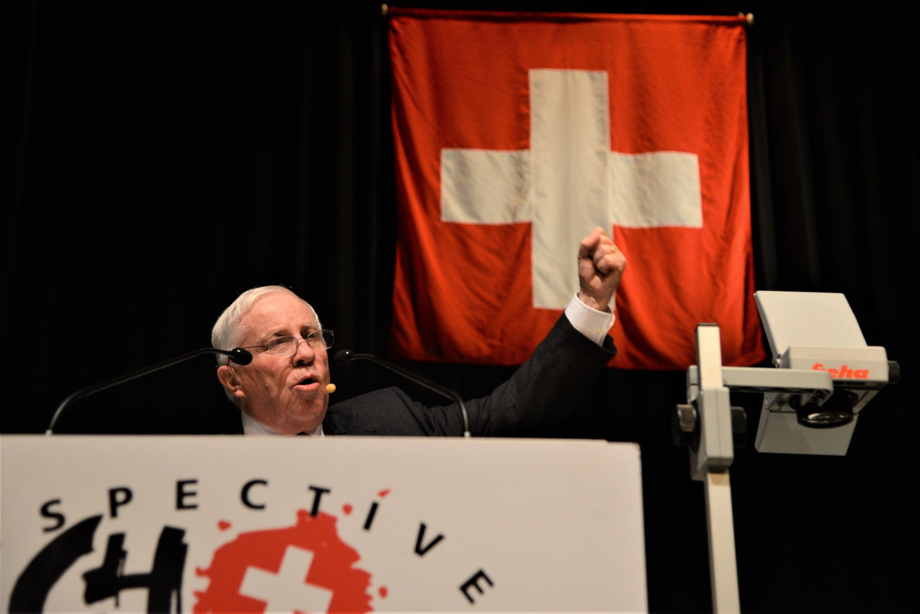 """Blocher spricht über das Thema """"25 Jahre nach dem EWR-Nein - wo stehen wir heute?"""""""